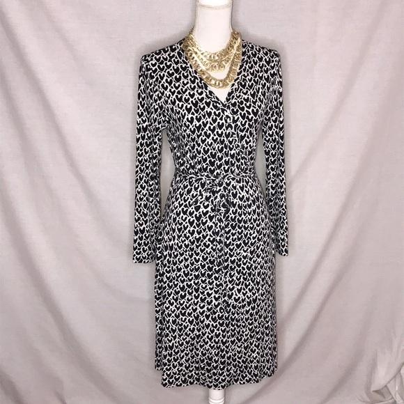 6ac66fb9b20 Boden Dresses   Skirts - Boden True Wrap LS Dress Heart Print Size 10R